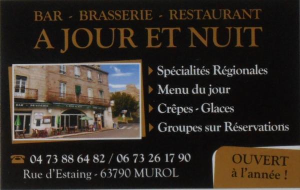 Brasserie a jour et nuit