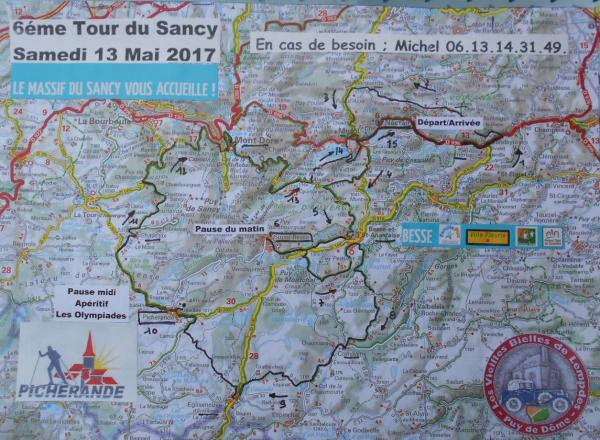 Carte tour du sancy 2017